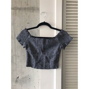 A&F shirred crop top